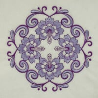 Matriz de bordado floral 551