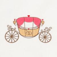 Matriz de bordado carruagem princesa 3