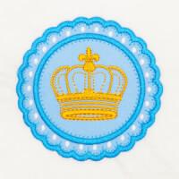 Matriz de bordado moldura aplique coroa 1