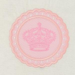 Matriz de bordado moldura aplique coroa 2