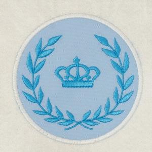 Matriz de bordado moldura aplique coroa 3