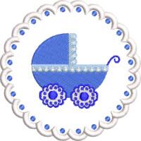 Matriz de bordado molduras baby 7