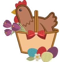 Matriz de bordado galinha aplique 27