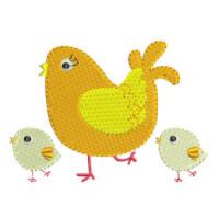 Matriz de bordado galinha 33