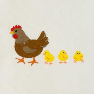 Matriz de bordado galinha 34