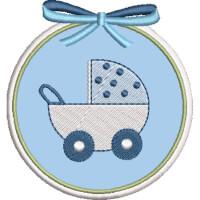 Matriz de bordado molduras baby 8
