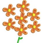 Matriz de bordado floral 561