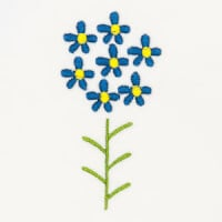 Matriz de bordado flor 267