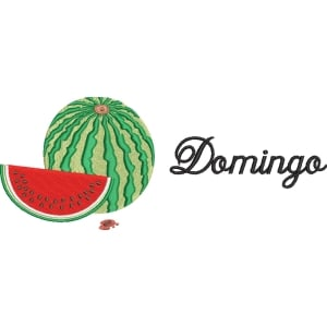 Matriz de bordado Semaninha Frutas Domingo