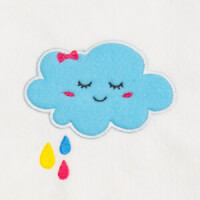 Matriz de bordado nuvem  aplique 1
