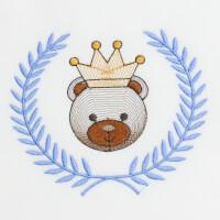 Matriz de bordado ursinho moldura 32