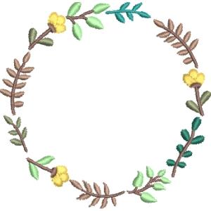 Matriz de bordado moldura floral 20
