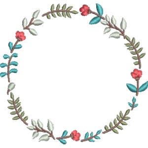 Matriz de bordado moldura floral 22