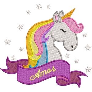 Matriz de bordado unicornio 8