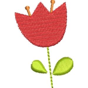 Matriz de bordado flor 270