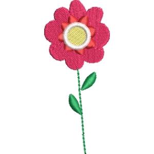 Matriz de bordado flor 271
