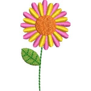 Matriz de bordado flor 273