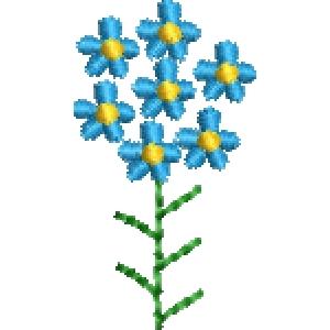 Matriz de bordado flor 274