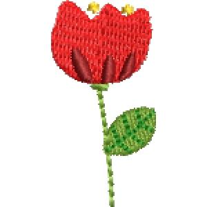 Matriz de bordado flor 275