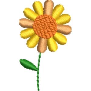 Matriz de bordado flor 276