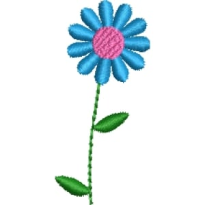 Matriz de bordado flor 277