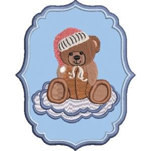 Matriz de bordado ursinho aplique 43