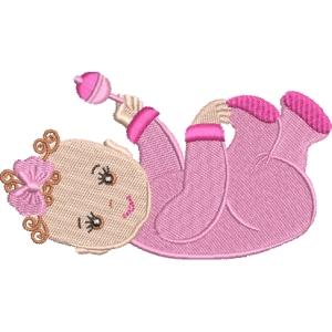 Matriz de bordado menininha