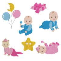 Matriz de bordado Pacote Crianças Baby