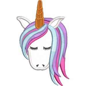 Matriz de bordado unicornio 18