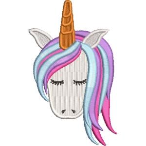 Matriz de bordado unicornio 16