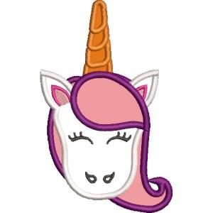 Matriz de bordado unicornio aplique 5