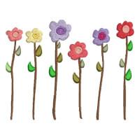 Matriz de bordado floral 563