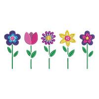Matriz de bordado flor 283