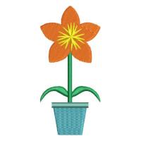 Matriz de bordado vaso de flor 4