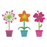 Matriz de bordado vaso de flor 8