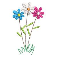 Matriz de bordado flor 294