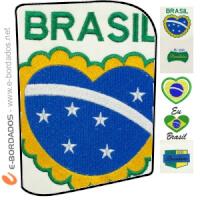 Matriz de bordado Pacote eu amo o Brasil