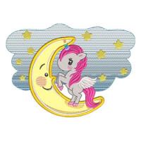 Matriz de bordado Baby Unicornio aplique 1