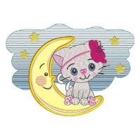 Matriz de bordado Baby Gatinha Aplique 1