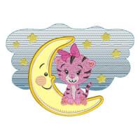 Matriz de bordado Tigresa Baby Aplique