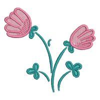 Matriz de bordado Floral