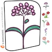 Matriz de bordado Pacote de Florais