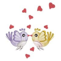 Matriz de bordado Passarinhos Love Rippled