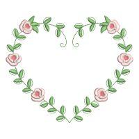 Matriz de bordado Moldura de Flor