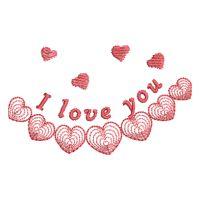 Matriz de bordado Love