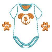 Matriz de bordado Roupa de bebe