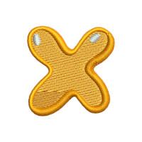 Matriz de bordado Letra X Kids