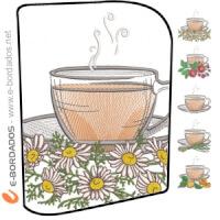 Matriz de bordado Pacote Matrizes de Bordados Hora do Chá