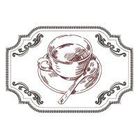 Matriz de bordado Cafe Utensilios
