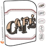 Matriz de bordado Pacote Frases Café